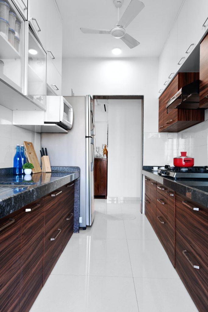 aménagement cuisine en longueur